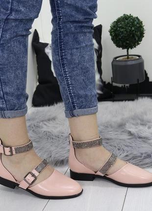 Новые шикарные женские пудровые босоножки сандали