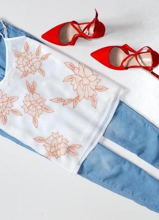 Стильная блуза топ на беретеляхс вышивкой