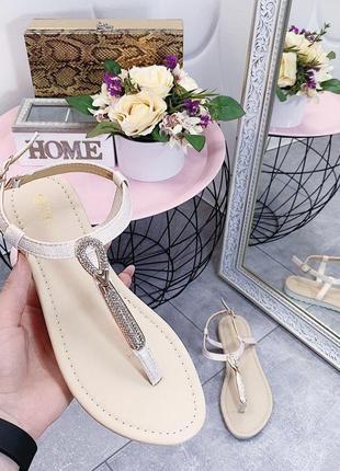 Новые шикарные женские бежевые босоножки сандали