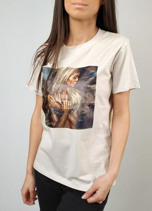 Коттоновая футболка 😍( 4 цвета)