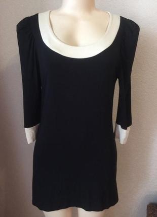 Женское чёрное короткое платье размер м