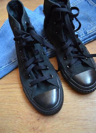 Converse черные высокие кеды оригинал конверс летние кроссовки...