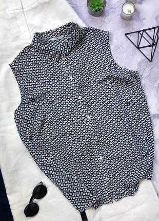 Стильная блуза в крутой принт 22р