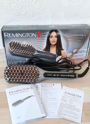 Новая расческа выпрямитель Remington keratin protect 7480