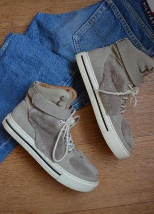 Marc cain стильные демисезонные ботинки кроссовки кеды кожаные...