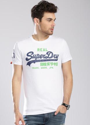 Мужская футболка superdry белого цвета