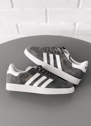 Adidas gazelle grey серые женские кроссовки наложенный платёж ...
