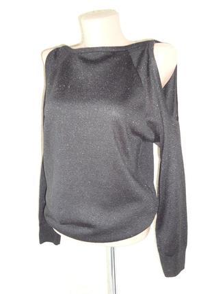 Черная кофта открытые плечи new look р.14