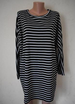Новое платье-туника в полоску большого размера new look