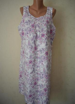 Льняное платье с нежным принтом большого размера bhs