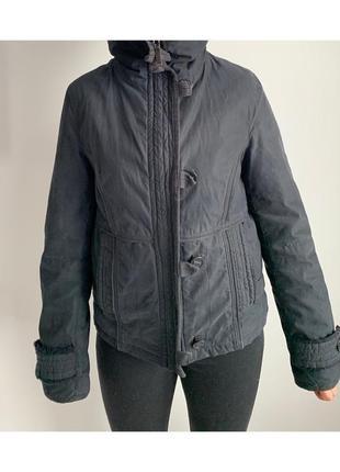 Теплая черная куртка, женская куртка не дорого.