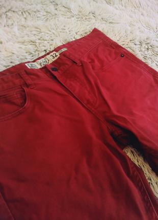 Джинсы мужские Good Stok красные .Размер 32