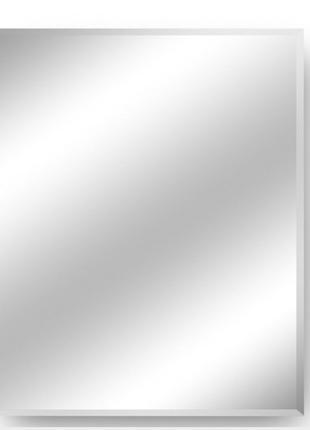 Зеркало настенное в металлической раме из нержавейки