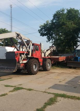 АРЕНДА трактора Т-150 с буровой крановой установкой и прицепом