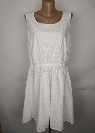 Платье красивое белое хлопковое батистовка большой размер papa...
