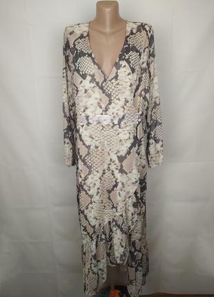 Платье красивое питоновое на запах большого размера lipsy uk 1...