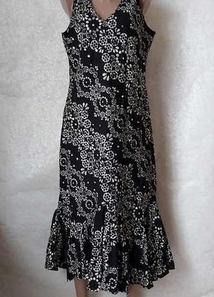 Новое с биркой платье/сарафан со 100 % хлопка украшено паеткам...