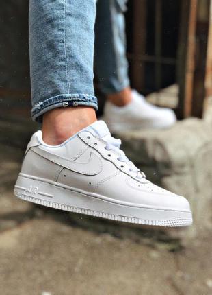 Nike air force 1 low white белые мужские кроссовки наложенный ...
