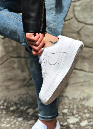 Nike air force 1 low white белые женские кроссовки наложенный ...