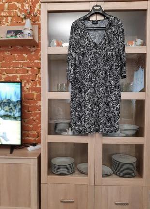 Удобное вискозное с большими карманами платье большого размера