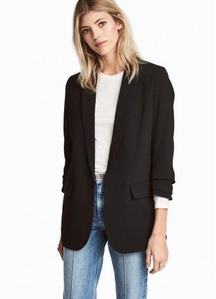 Базовый чёрный пиджак h&m