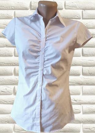 Рубашка белая с коротким рукавом от p.s.fa