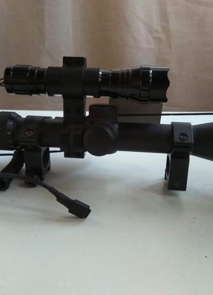 Оптический прицел 3-9х40 +фонарь+лазер ,новый, для пневматики