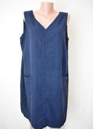 Льняное платье большого размера next