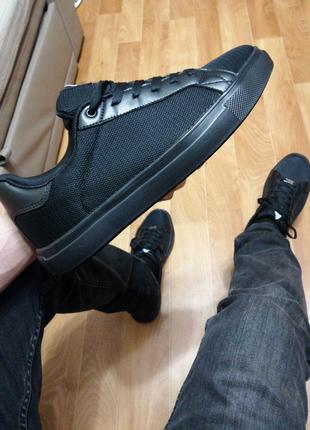 Мужские кеды кроссовки стильные чёрные