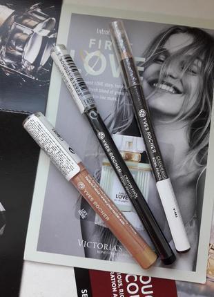 Набор новых карандашей для глаз yves rocher карандаш черный ко...