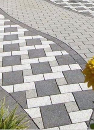 Укладка тротуарной плитки виброплита