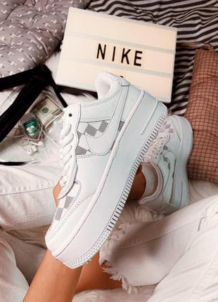 Кроссовки nike air force 1 blue-pink