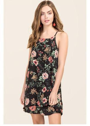 Платье в цветы оверсайз