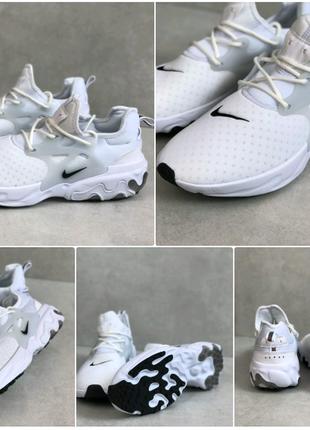 Белые стильные мужские кроссовки