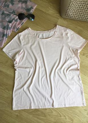 Красивая пудровая футболка, next, 16 uk, 52 наш размер