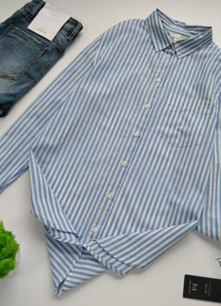Сорочка в полоску котонова h&m