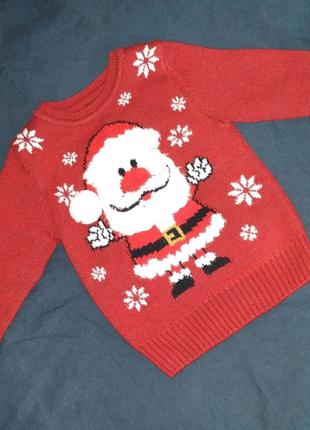Новогодний свитерок George 2-3 года 92-95 см)