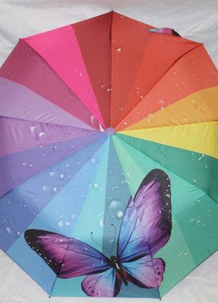 Зонт полуавтомат, в 3 сложения