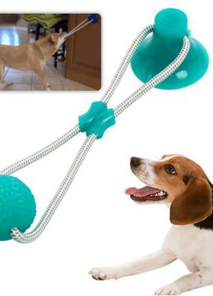 Игрушка для домашних животных с присоской dog toy rope Pull