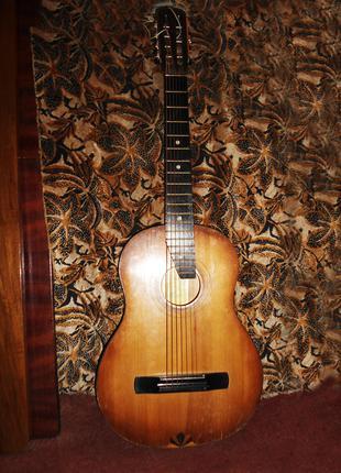Гитара акустическая 7 струн классическая Черниговская ф-ка, 1977