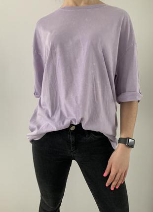 Фіолетова футболка, базова трендова футболка, нова.