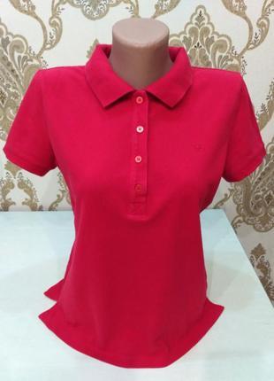 Esprit красная футболка поло