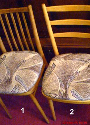 Стул (стулья мягкие), 1-2, натуральное дерево дуб, дубовый, светл