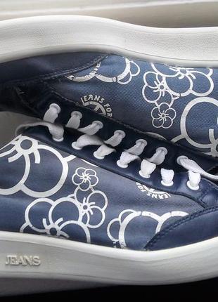 Кеды armani jeans оригінал натуральна кожа , текстиль