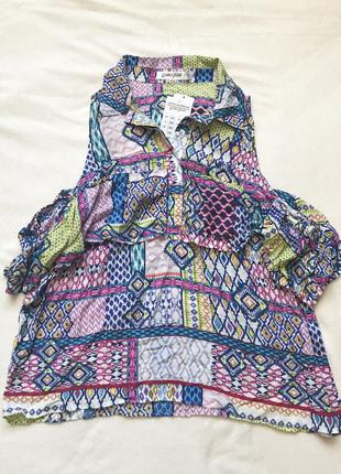 Разноцветная блуза без рукавов Gloria Jeans