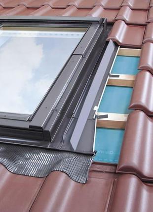 Вікно мансардне+комір FTZ 78*118 комплект на дах  Мансардное окно