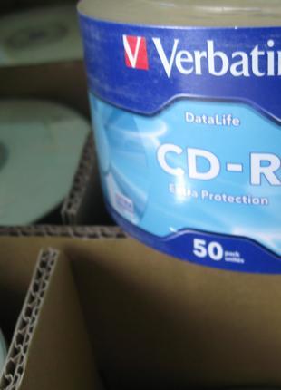 Диск CD-R Verbatim Data Life 700Mb, 52х Extra Protection 50шт.