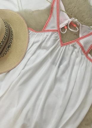Белоснежное пляжное платье от george с биркой