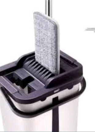 Швабра с ведром и автоматическим отжимом (комплект для уборки Три