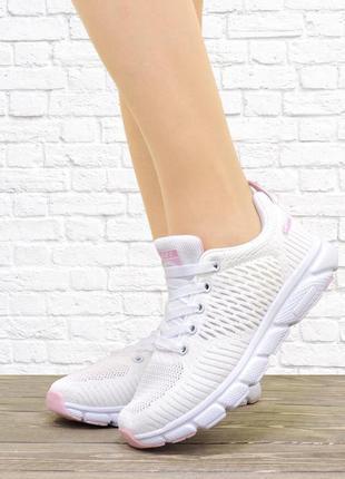 Женские кроссовки run белые
